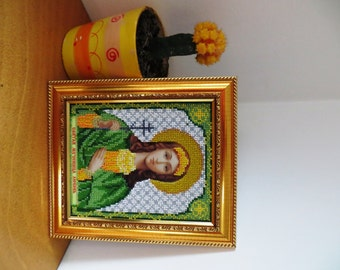 Beads Embroidered Icon Lyubov (Charity)