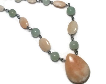 Honey Jade Pendant Necklace