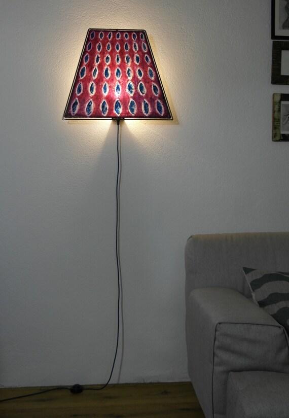 Special handmade unique lamp red painted japanes paper - Unique handmade lamps ...