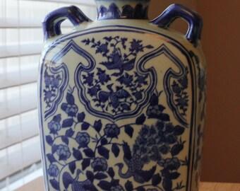 Vintage Blue Andrea by Sadek Porcelain Vase
