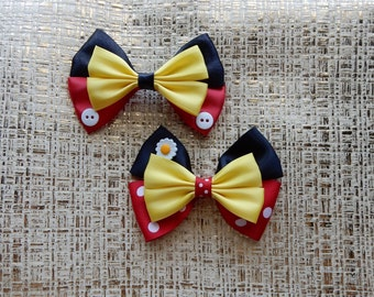 Mickey Mouse Bow, Minnie Mouse Bow, Disney Bows