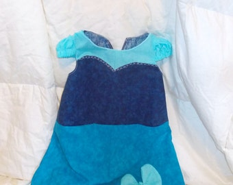 Ariel Inspired Blue Kiss the Girl Dress and Bow