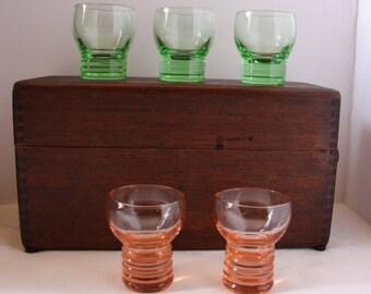 Vintage Shot Glasses, Mid-century shot glasses, retro shot glasses, shot glasses