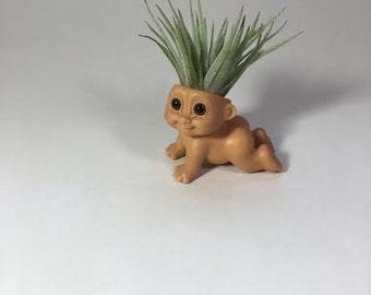 BB Plant Crystroll- Original Russ Troll Doll With Air Plant Hair