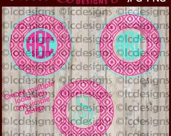LC086 - iKat Monogram Frame SVG Design