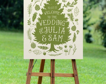 rustic wedding welcome sign, printable wedding sign, custom welcome wedding sign, woodland wedding, rustic wedding decor, diy wedding