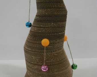 Hand made Corrugated interactive cat scratcher
