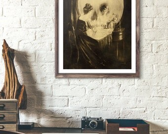 sherlock, the abominable bride, skull, poster sherlock, skull poster, wall art skull, optical art, sherlock holmes, optical illusion, skulls