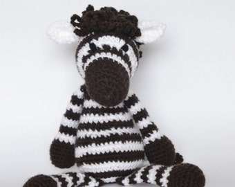 Crochet Zebra Toy. Crochet Amigurumi Animals. Stuffed Animal Toy
