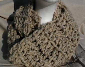 Wool Blend Chunky Infinity Scarf