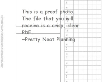 ECLP Style {Franklin Covey Pocket} Daily Planning Page Printable (Undated)