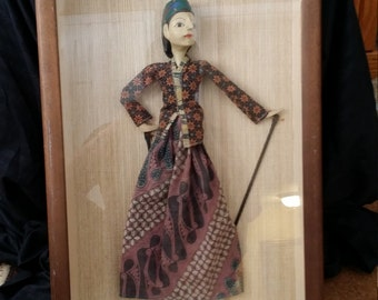 Indonesian Shadow Puppet Framed - 30% OFF - June Sale