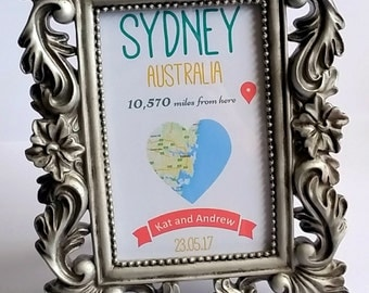 Round the World Table Name Cards