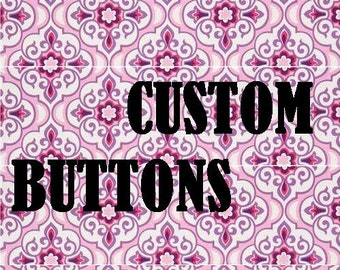 Custom Buttons Set of 15
