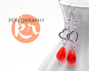 "Earrings ""red drops"""