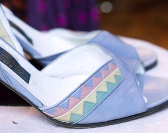Vintage Shoes-Sandals open toe, ankle strap