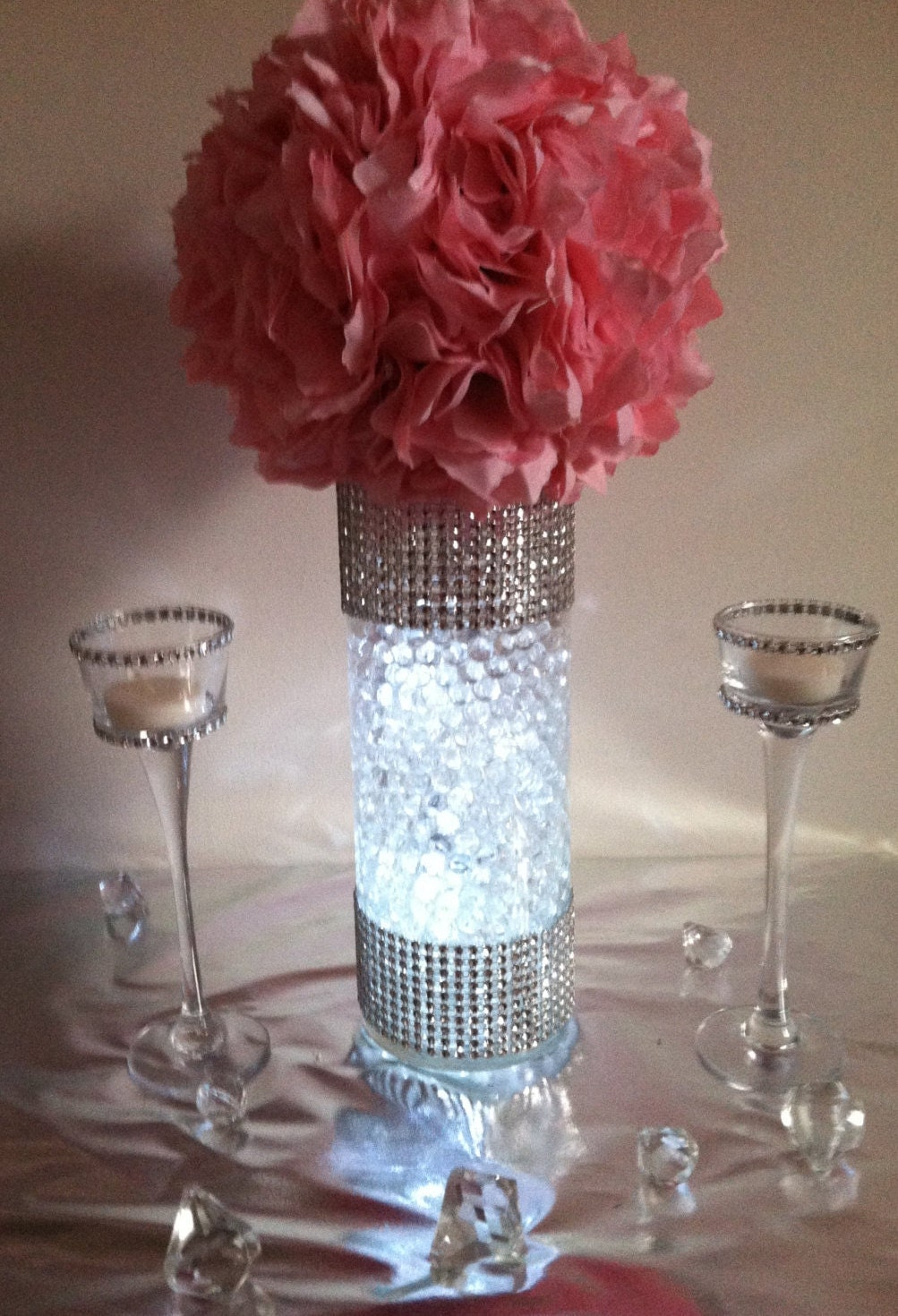 Kissing ball centerpiece sets bling rhinestone