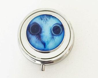 Owl Glow in the Dark Pill Box, Metal pill Box