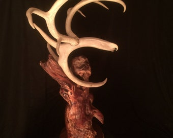 Flying Eagle Antler Carving