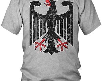 Distressed German Eagle Crest Men's T-Shirt, Germany Deutschland, German Pride, Soccer, Men's Germany Shirts AMD_0139