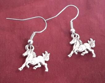 Silver Horse/Stallion Earrings