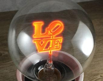 Darksteve Simple Love Designer Light Bulb Vintage Style G80 E26 Or E27 Screw