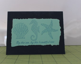 By The Sea Note Card