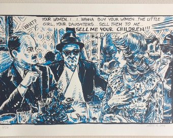 The Blues Brothers Silkscreen by Ermis