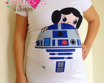 Maternity shirt, Princess Leia Costume, Pregnancy shirt, Star wars, Halloween maternity, Maternity costume, Girl gender reveal, Mom shirts