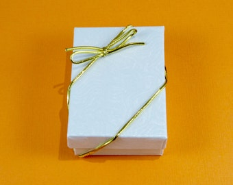 Gift Box with Gold Stretch Bow