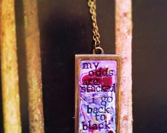 Back to Black Amy Winehouse Pendant Necklace