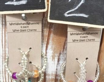 Wine Glass Charms- set of 4