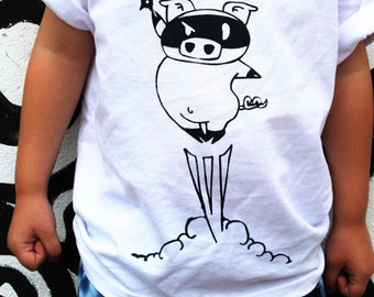 Ninja Tshirt, Pig shirt, Long Sleeve Tee