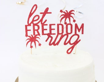 Patriotic cake topper // july fourth cake topper // american party // celebrate july fourth // firework cake topper