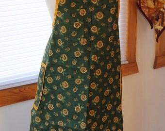 100% Cotton Apron - Sunflower patterns