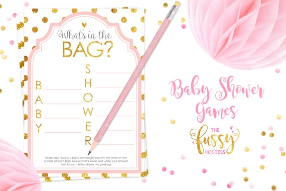 whats in the bag baby shower game baby shower game