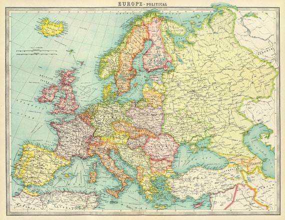 digital modern map of europe printable large europe - 28 images ...