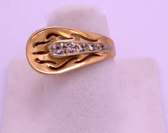 Chevalier Ring Gold Platinum Diamond Ring Chevalier in Gold Platinum and shiny
