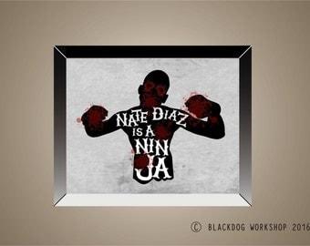 NATE DIAZ UFC Inspired Fan Art | 11 x 14 | Conor McGregor | Mixed Martial Arts | Gracie | Fighter | Jiu Jitsu