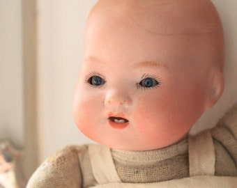 Vintage Armand Marseille Bisque Porcelain Dream Baby