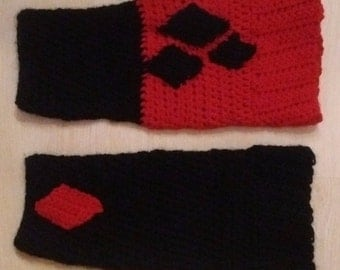 PATTERN ONLY Harley Quinn inspired Legwarmers