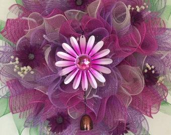 Summer Wreath Fuscia/Purple