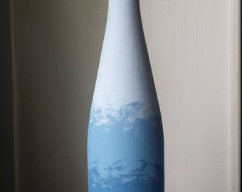 Ombre By The Sea - Painted Wine Bottle
