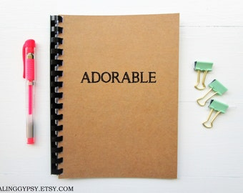 JOURNALING GYPSY-Adorable- One Word Art- Thought- Journal