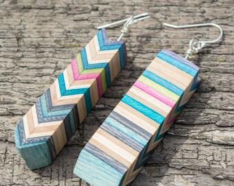 The BW Handmade Recycled Skateboard Earrings