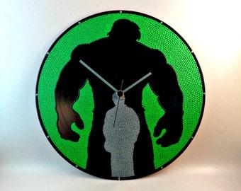Hulk, Wall clock, Vinyl clock, Superhero clock, Wall art, Marvel art, Hulk art, Home Decor, MiniDotClocks
