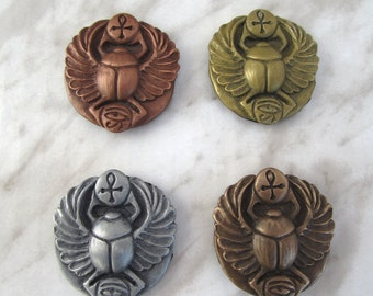 Ancient Egyptian Sacred scarab refrigerator magnets 4 piece set