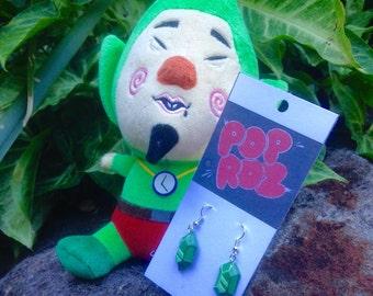 Legend of Zelda Green Rupee Earrings