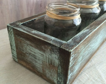 Planter Box, Wedding Centerpiece, Buffet Table, Head Table, Wood Box, Rustic, Shabby Chic