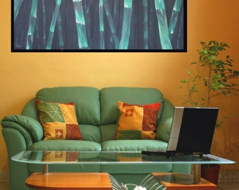 """bamboo """"59 """"23 (150X60 cm), Original Painting on Canvas,Hand Made  by Tomer Sharabani"""